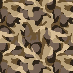 Desert Camouflage Camo in Browns