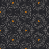 ★ DARK SUNSHINE ★ Teal, Ochre, Black - Small Scale / Collection : Abstract Geometric Prints