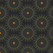 ★ DARK SUNSHINE ★ Olive Green, Ochre, Black - Small Scale / Collection : Abstract Geometric Prints