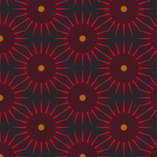 ★ DARK SUNSHINE ★ Burgundy Red, Ochre, Black - Small Scale / Collection : Abstract Geometric Prints