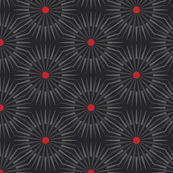 ★ DARK SUNSHINE ★ Gray, Red, Black - Small Scale / Collection : Abstract Geometric Prints