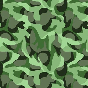 Jungle Camouflage Camo in Greens