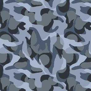Urban Camouflage Camo in Blue Grays