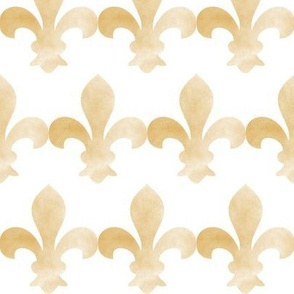 French Fleur de Lis Gold fog on white