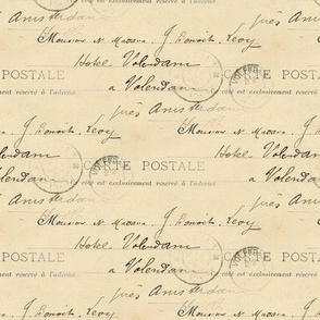 French Vintage Handwriting Postcard