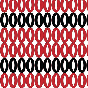 Ovals in Red and Black