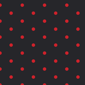 ★ POLKA DOTS ★ Red, Black - Small Scale / Collection : Dark Sunshine - Abstract Geometric Prints