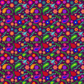 Colorful garden (purple background)