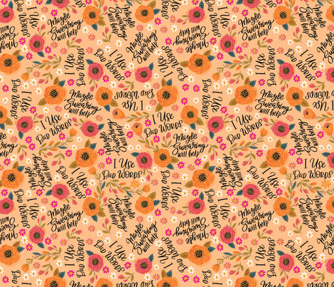 Cute & NOT-So Sweary - Phrases Toss fabric by cynthiafrenette on Spoonflower - custom fabric