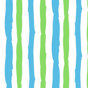 Paper Straws in Blue Tide & Bright Green