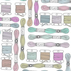 embroidery floss - pastels