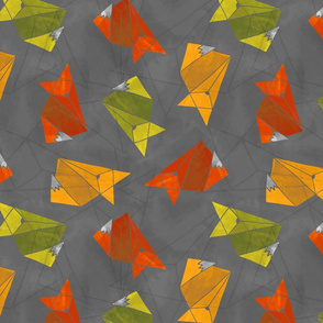 Abstract Foxes (warm colors)