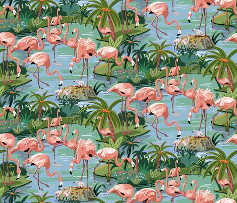 Flamingo Lagoon 10 inch