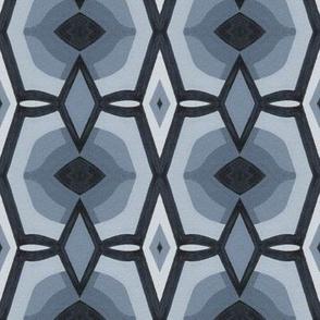 Cool Gray Diamonds Abstract Minimalism