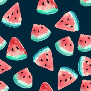 Watermelon Pieces // Blue Night