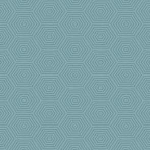 Mini Prints: Hexagon Greyed Turquoise