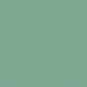 Mini Prints: Hexagon - Greyed Mint