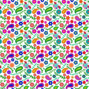 Colorful garden (white background)