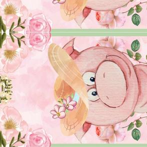 Petal Pig Portrait TeaTowel
