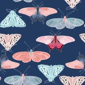 Dark blue butterfly friends