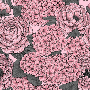 Floral bouquet in pink
