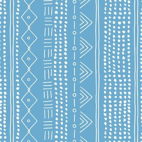 Minimal mudcloth bohemian mayan abstract indian summer love aztec design baby blue vertical rotated