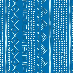 Minimal mudcloth bohemian mayan abstract indian summer love aztec design blue marine vertical rotated