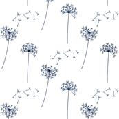 dandelions navy and white