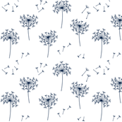 dandelions 2 for mom navy and white