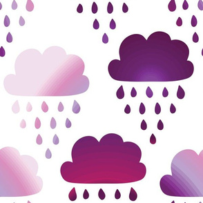 rain clouds purple