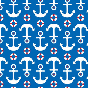 anchors lg on royal blue || independence day USA american fourth of july 4th