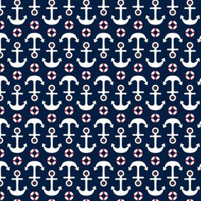anchors sm on navy blue || independence day USA american fourth of july 4th