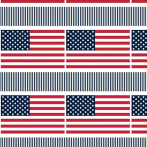 flag 8x8 red white and navy blue || independence day USA american fourth of july 4th