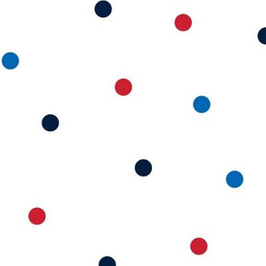 mixed polka dots lg red white and blue || independence day USA american fourth of july 4th