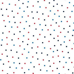 mixed polka dots sm red white and blue || independence day USA american fourth of july 4th