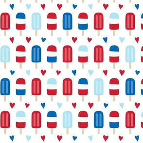 popsicles sm red and royal blue on white || independence day USA american fourth of july 4th