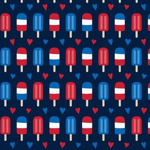popsicles sm red white and royal on navy blue || independence day USA american fourth of july 4th
