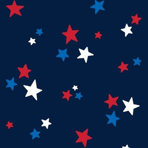 stars med red white and royal on navy blue || independence day USA american fourth of july 4th