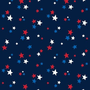 stars sm red white and royal on navy blue || independence day USA american fourth of july 4th