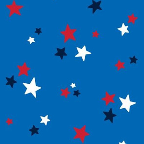 stars med red white navy on royal blue || independence day USA american fourth of july 4th