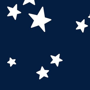 stars lg white on navy blue || independence day USA american fourth of july 4th