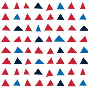 triangles sm red white royal and navy blue || independence day USA american fourth of july 4th