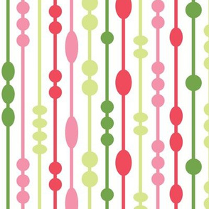 Dot Strings Pink and Green (Tropical)