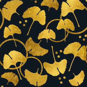 Ginkgo Gold on Black