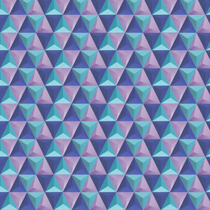 Pyramids Tile - Blue Purple