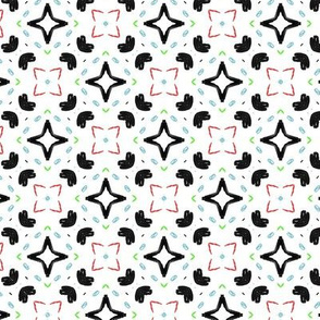 Stars and squares pattern