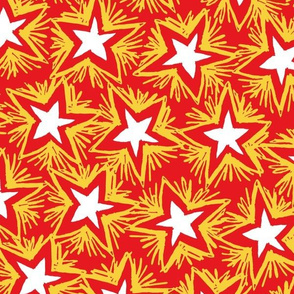 Bright Stars GOLD RED