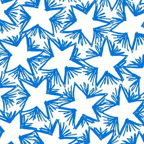 Star Bursts BLUE