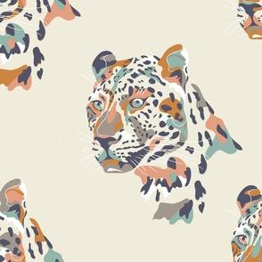 africa africa - leopard head - cream