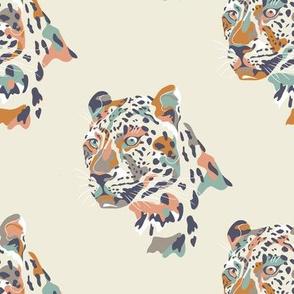africa africa - leopard head - cream  - small